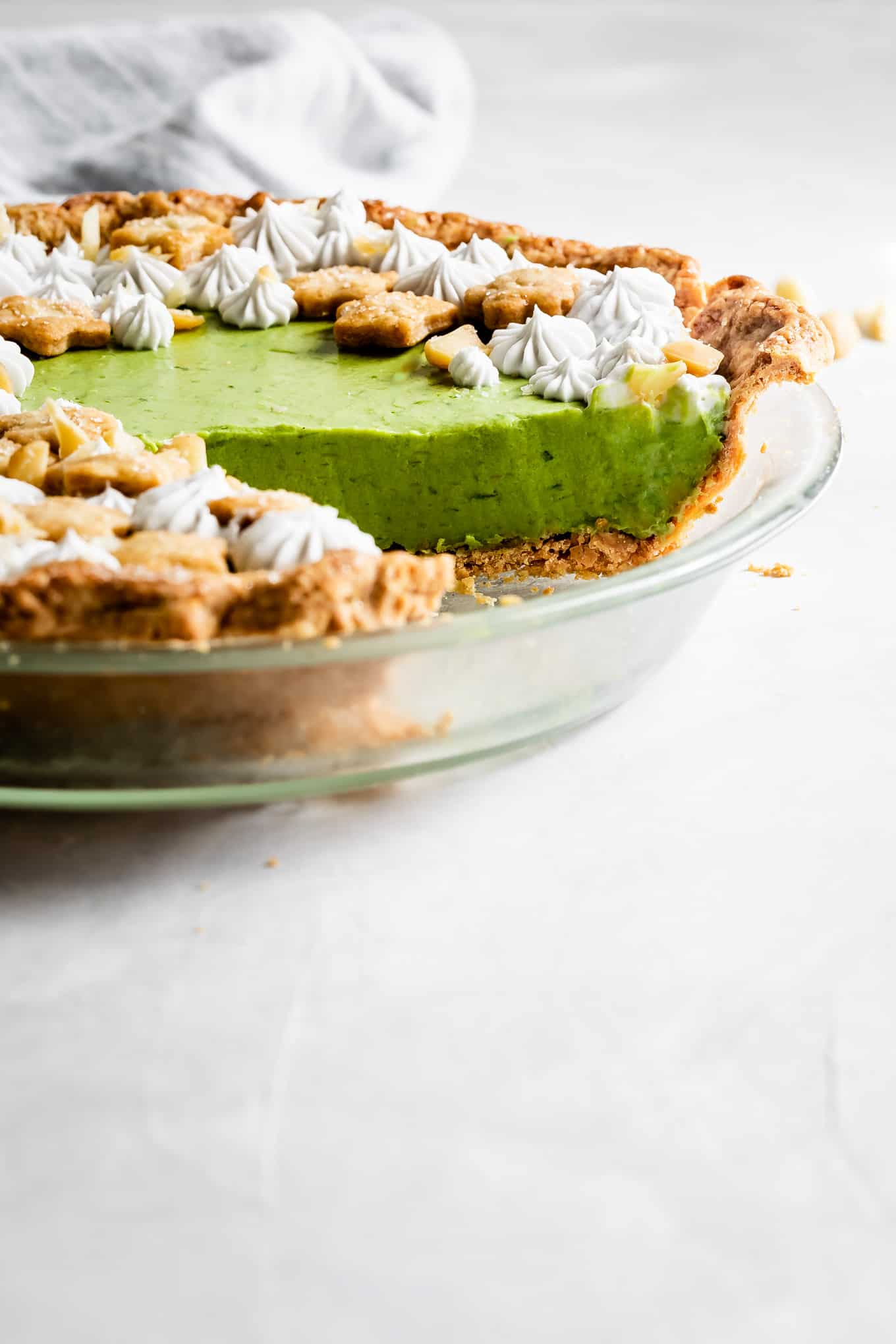 No-Bake Key Lime Pie with Matcha Mousse