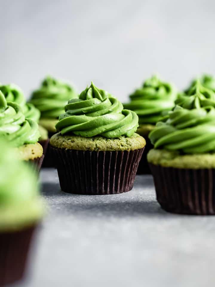 Gluten-Free Matcha Cupcakes