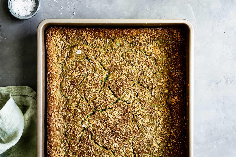 Matcha Butter Mochi Cake