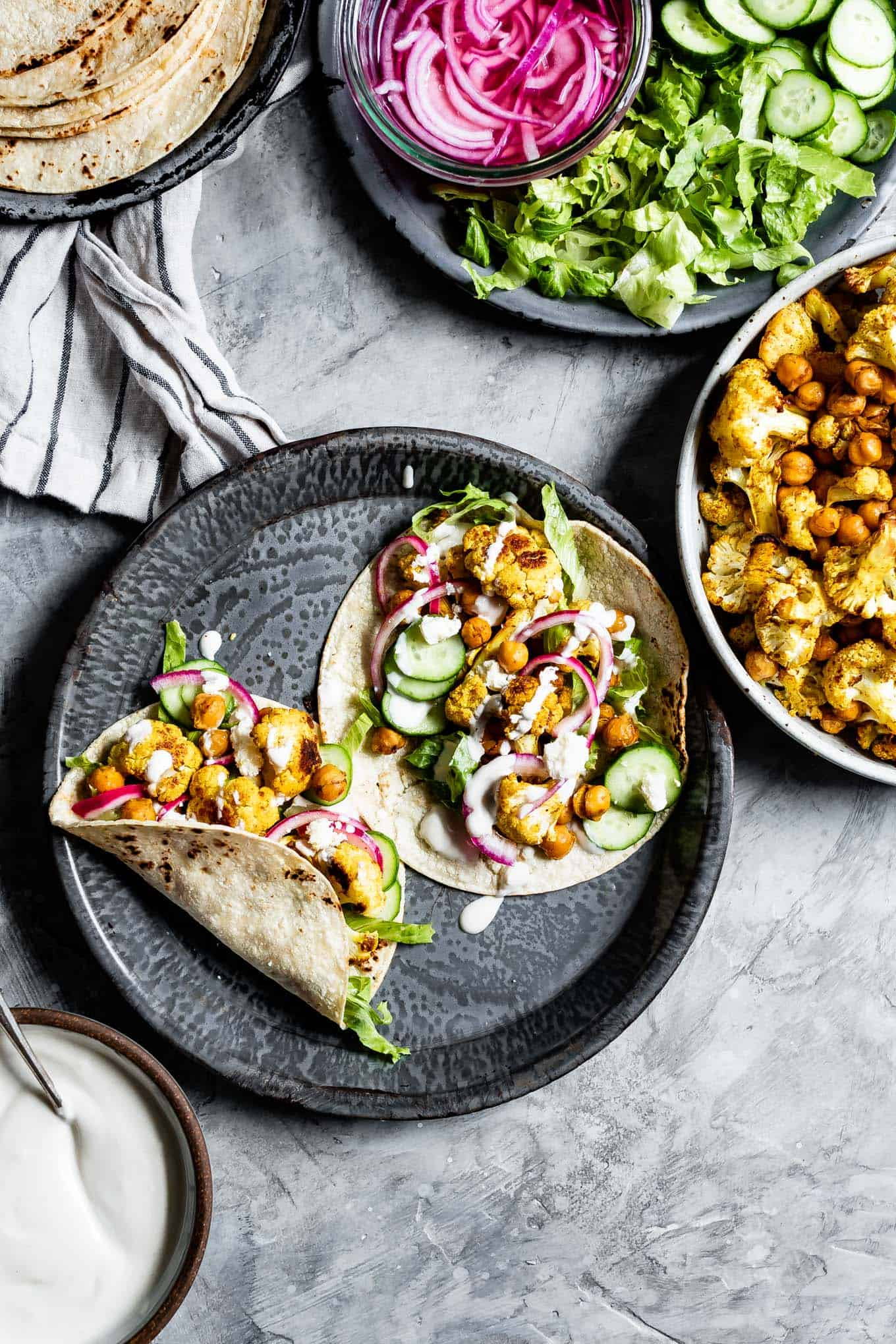 Chickpea Shawarma Tacos