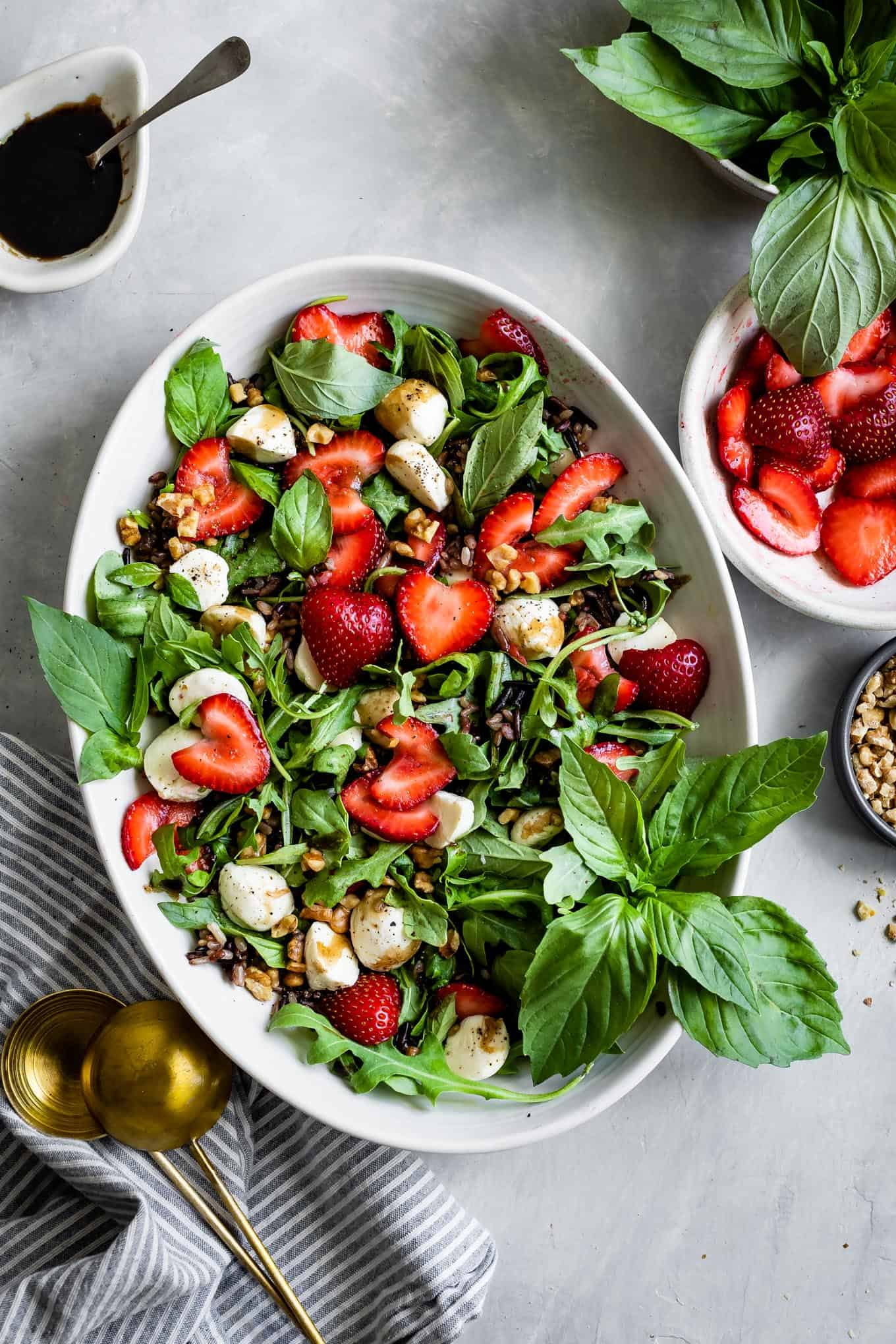 Strawberry Walnut Caprese Salad