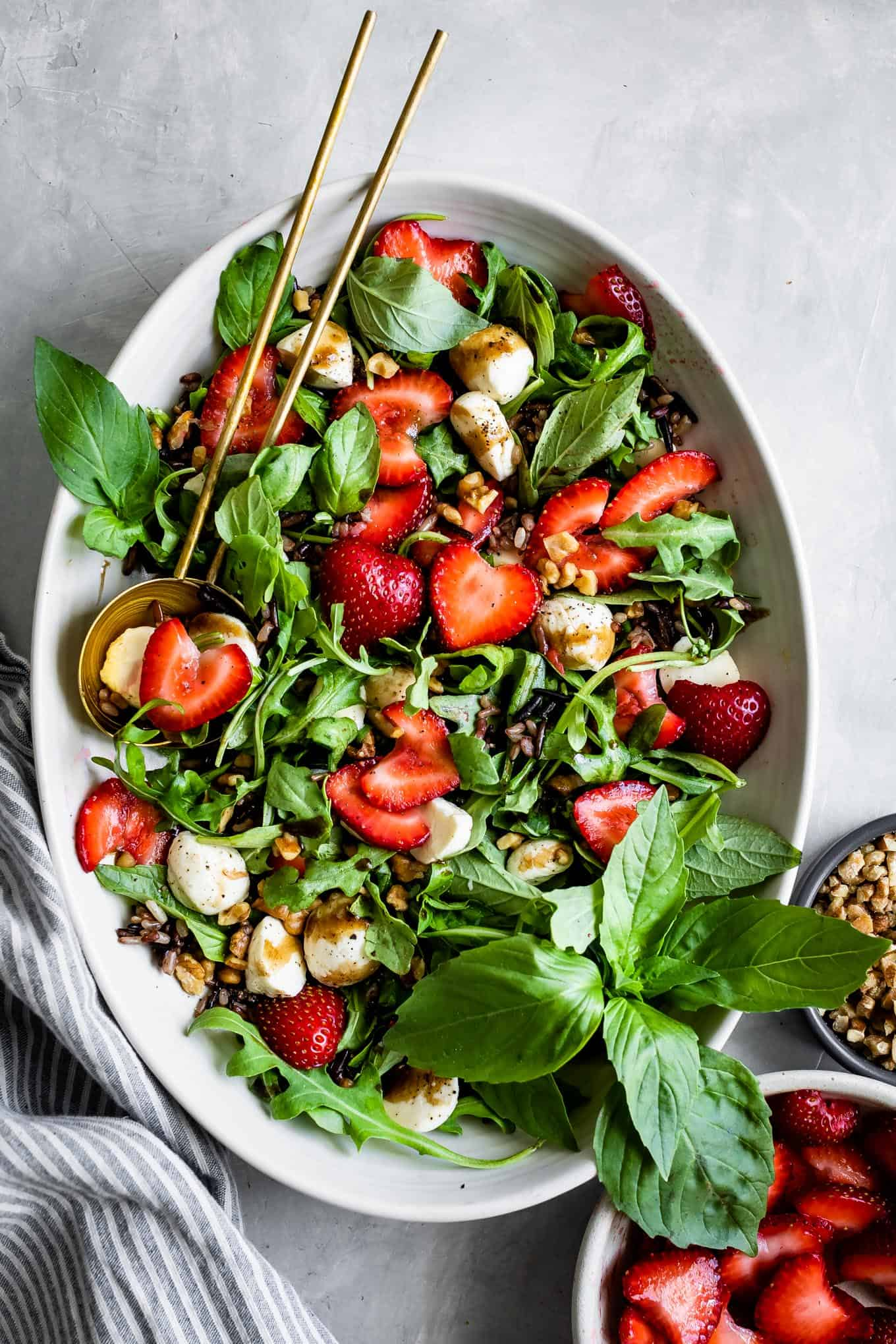 Arugula Caprese Salad with Strawberries