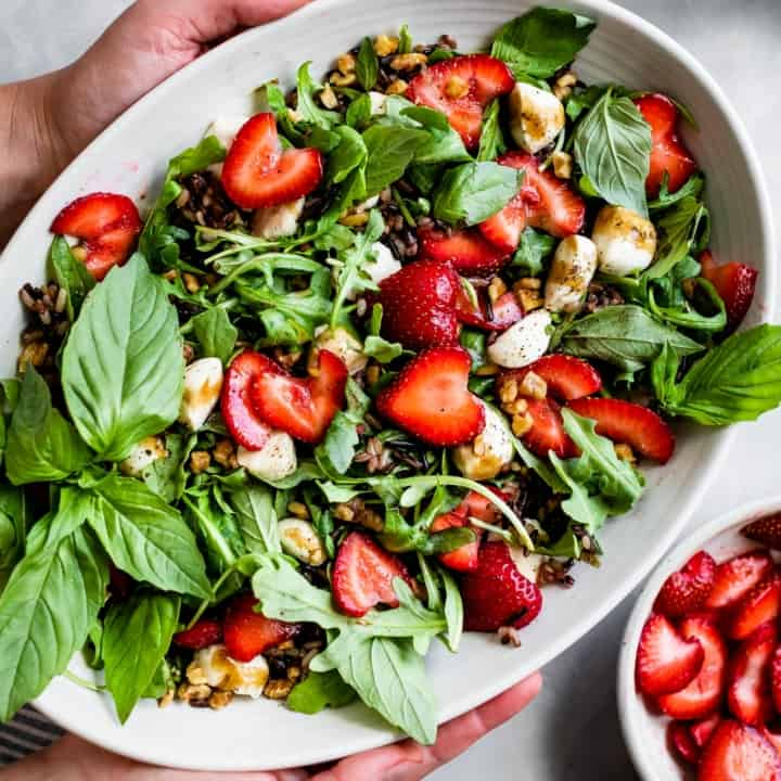 Strawberry Walnut Caprese Salad