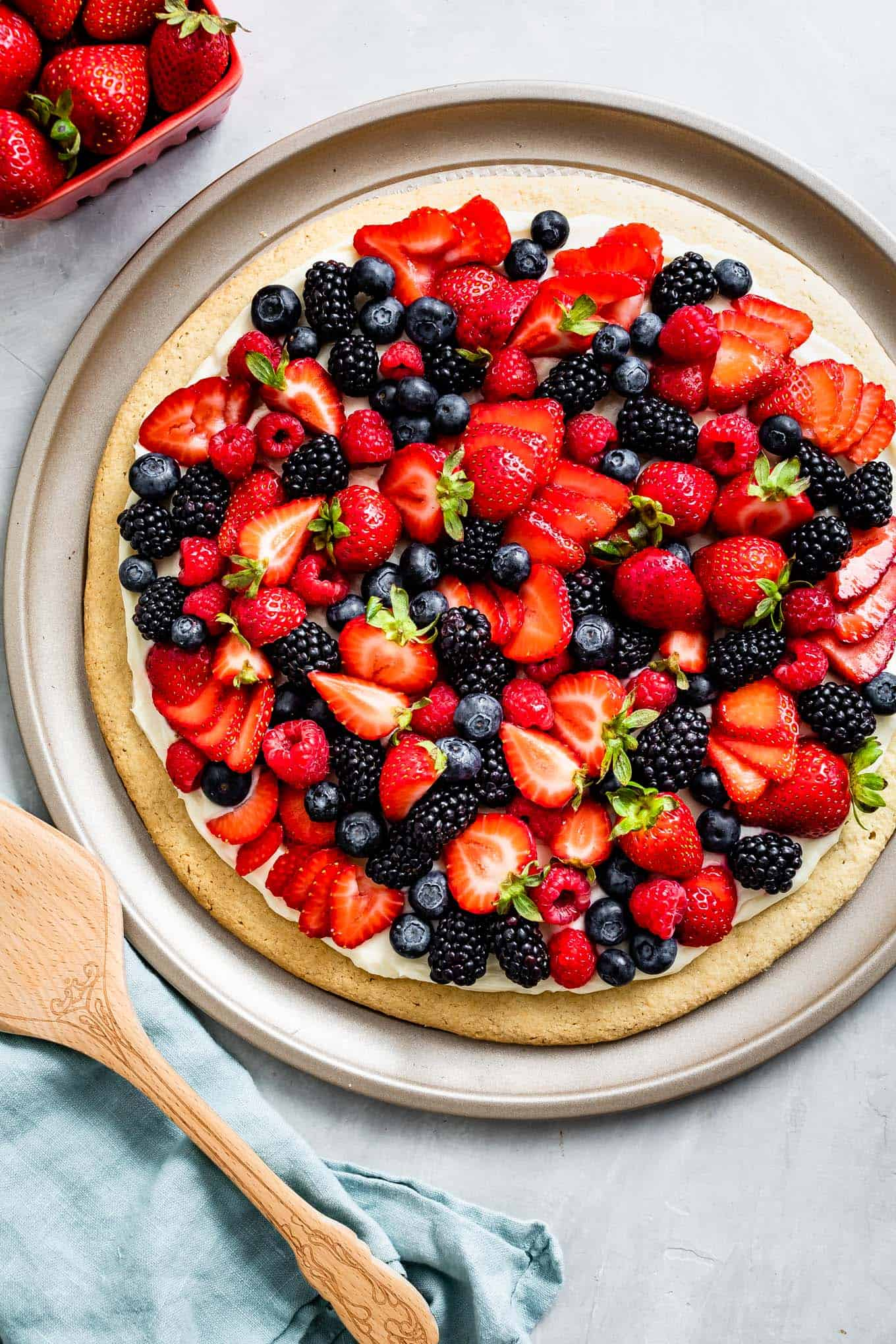 Gluten-Free Fruit Pizza with Almond Flour