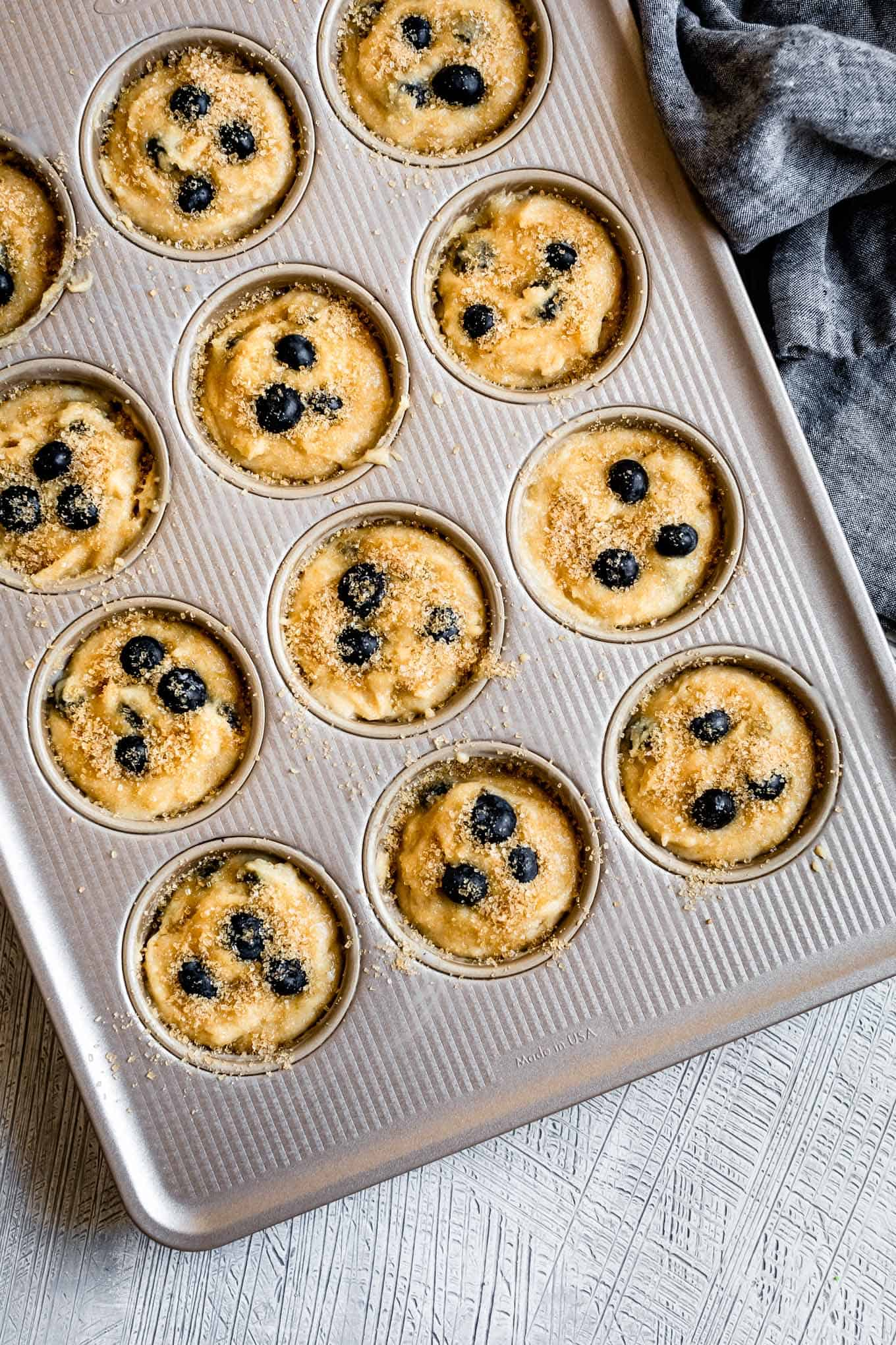 Bakery-Style Gluten-Free Blueberry Muffins with Sugar on Top