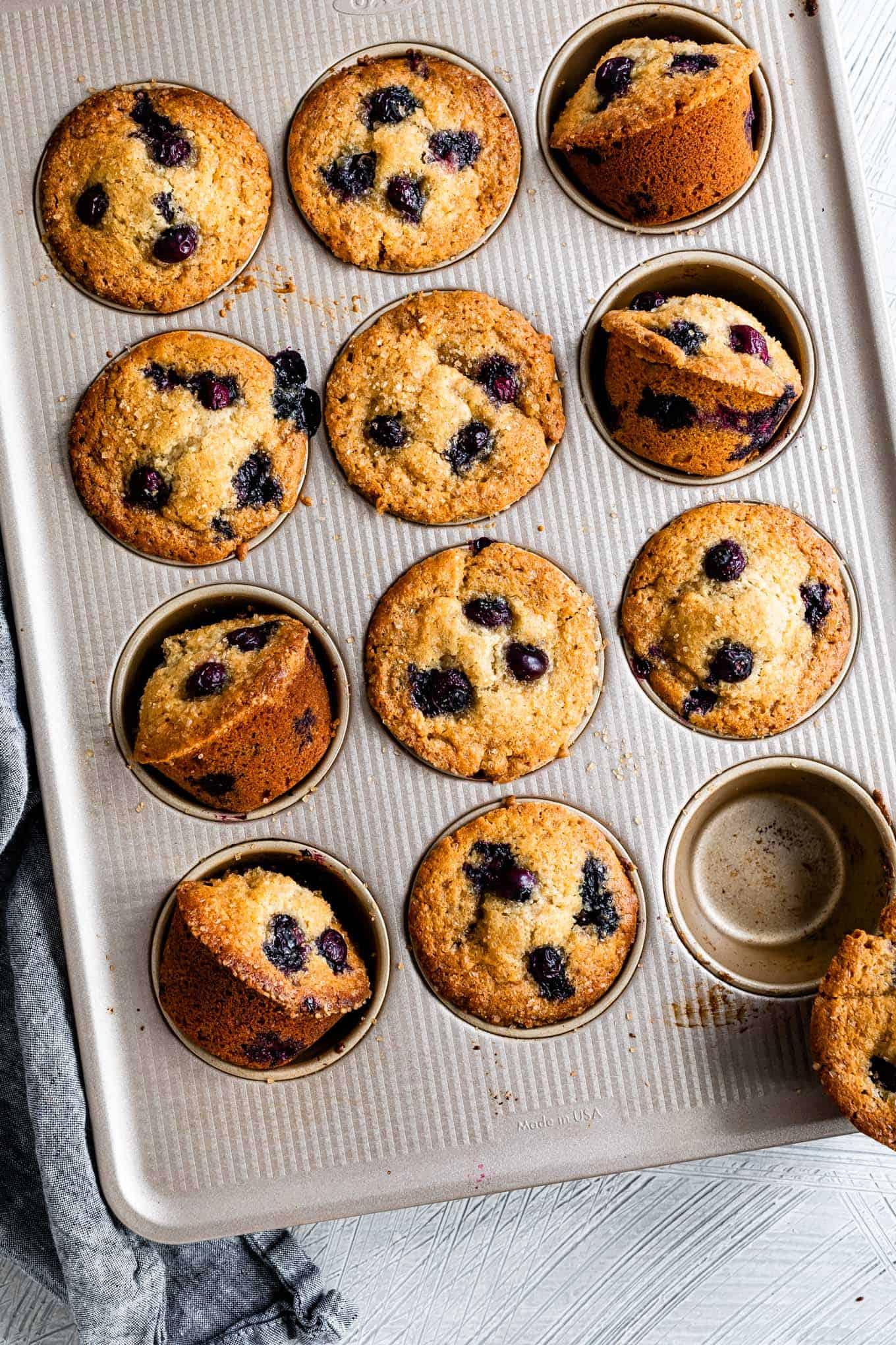Healthy Gluten-Free Blueberry Muffins