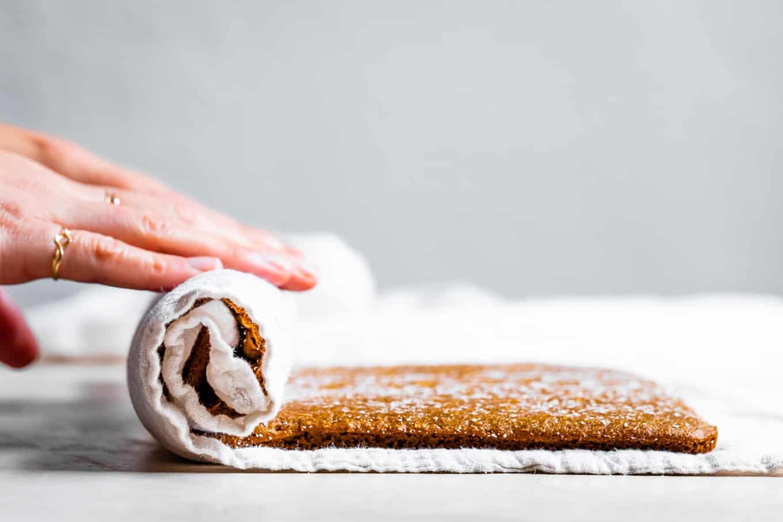 How to Roll a Gluten-Free Pumpkin Cake Roll