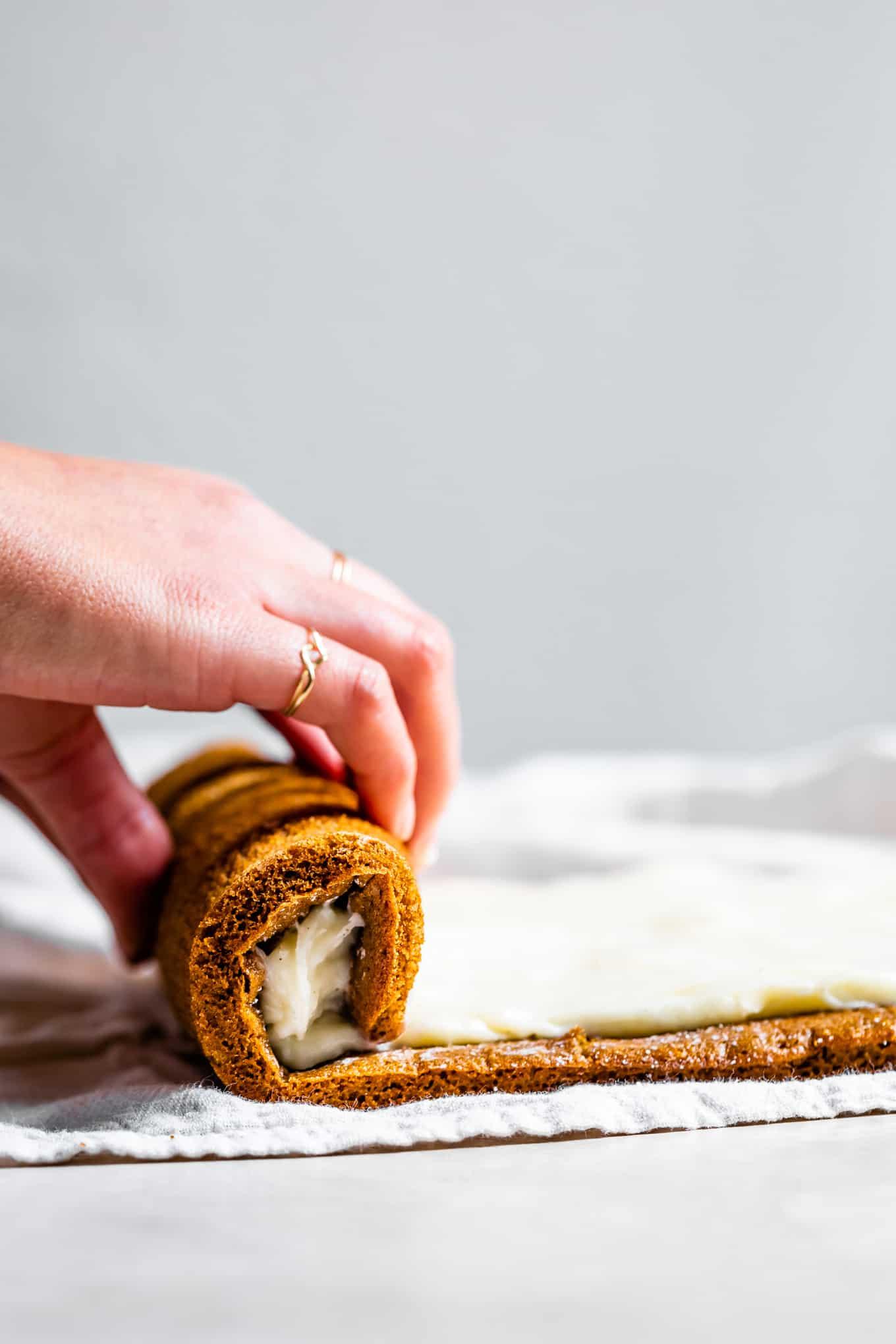 How to Roll Gluten-Free Pumpkin Cream Cheese Roll