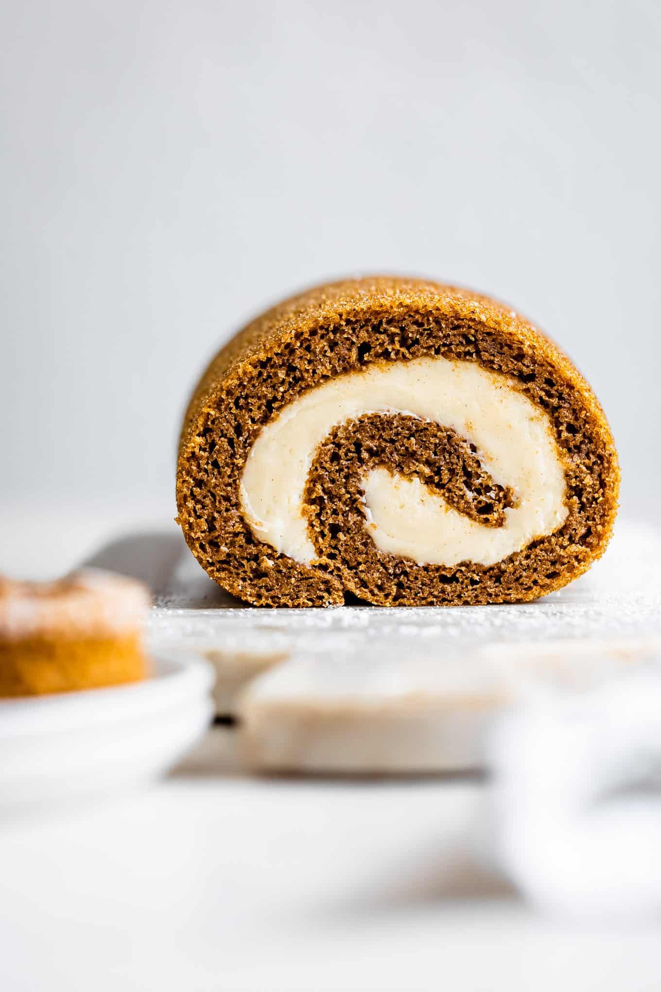 Gluten-Free Pumpkin Cream Cheese Roll