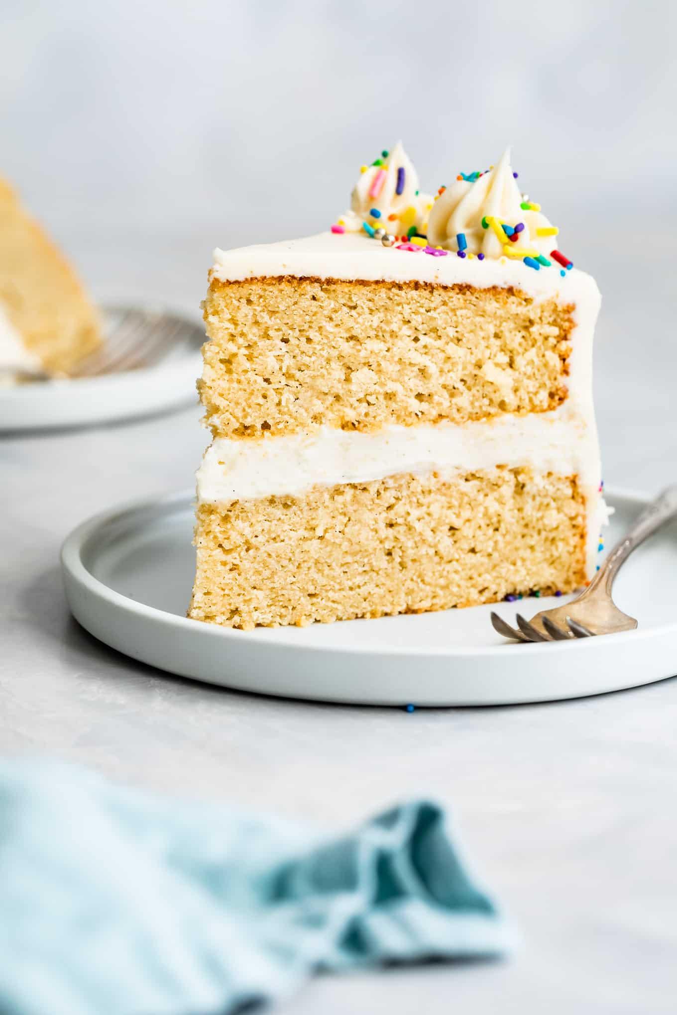 Easy Gluten-Free Yellow Cake Slice