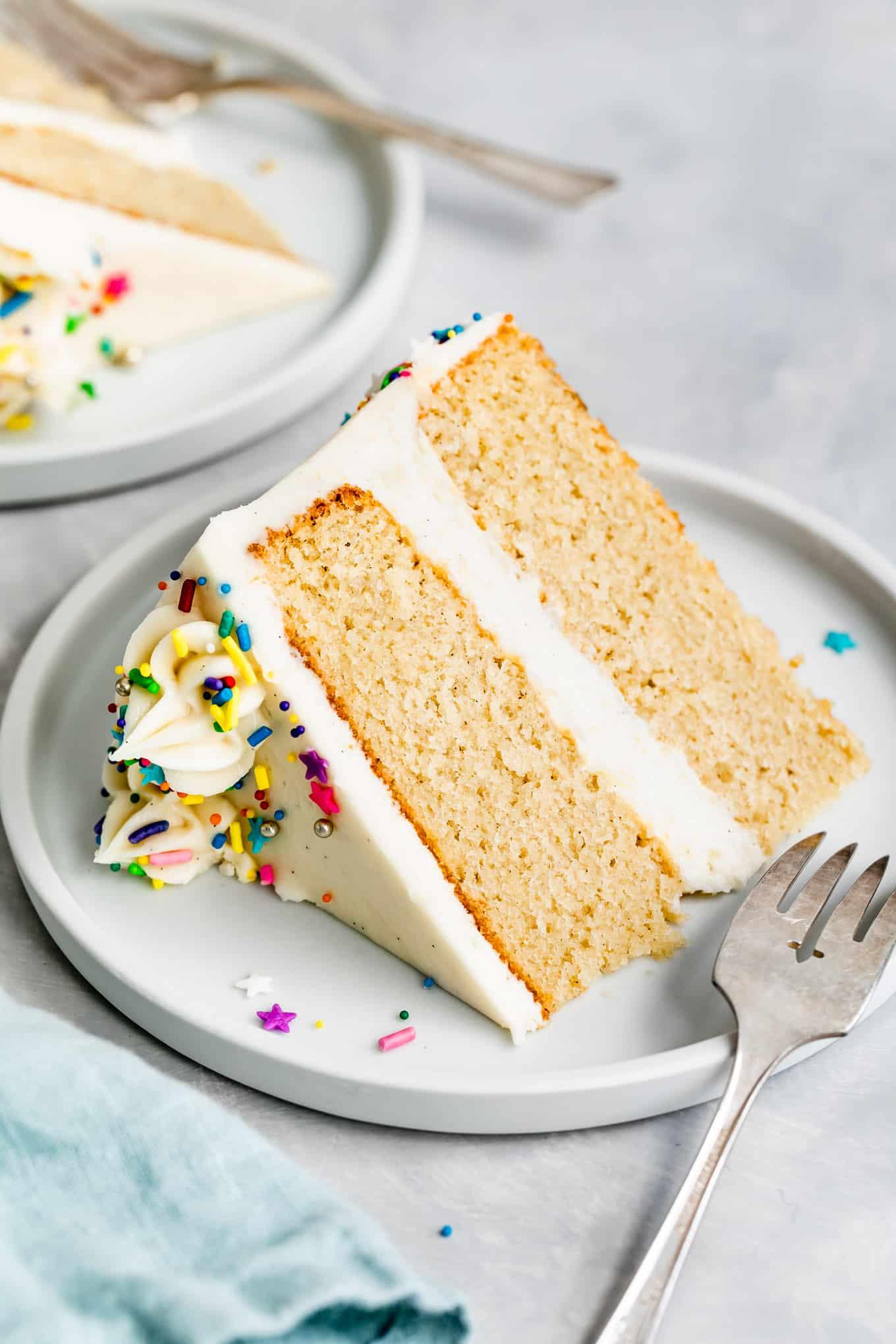 Gluten-Free Vanilla Cake Slice