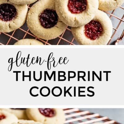 Gluten-Free Thumbprint Cookies with Raspberry and Strawberry Jam