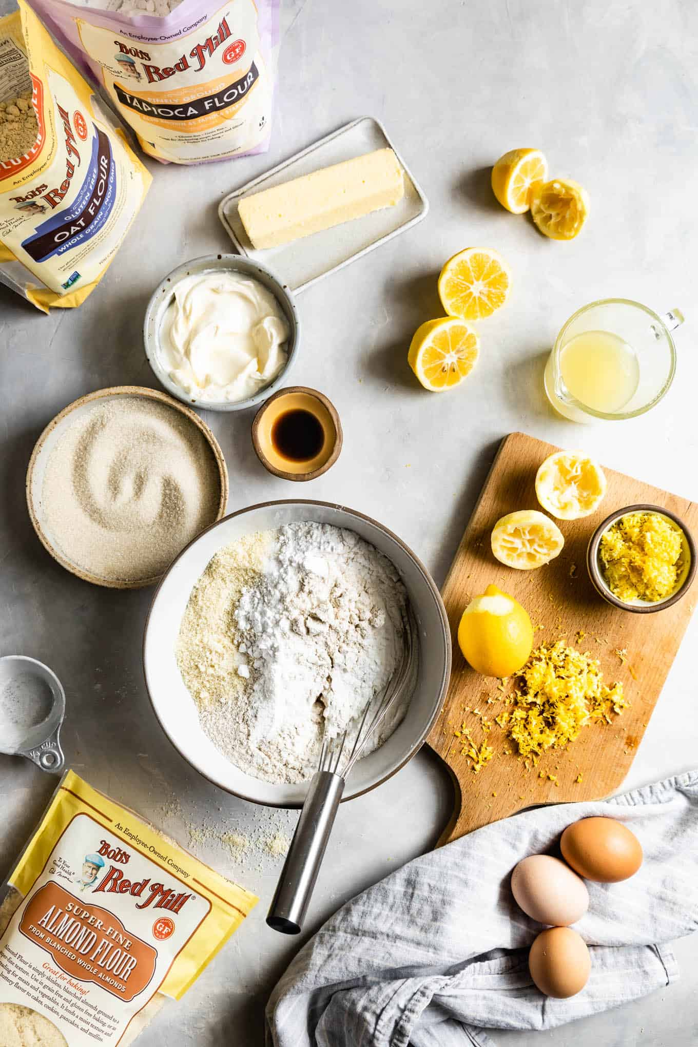 Ingredients for Gluten-Free Lemon Cake