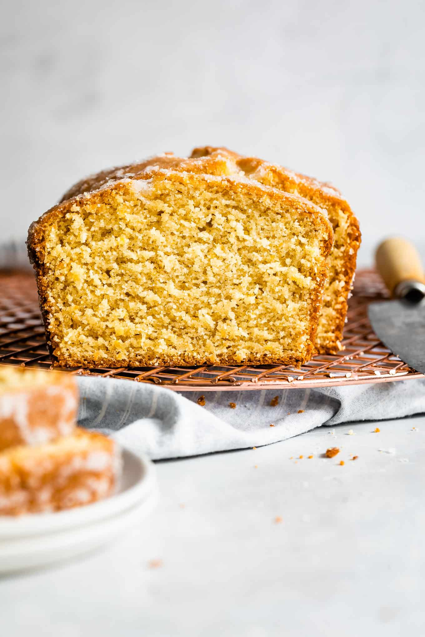 Gluten-Free Lemon Drizzle Cake Cross-Section