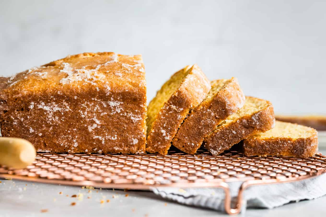 Sliced Gluten-Free Lemon Loaf