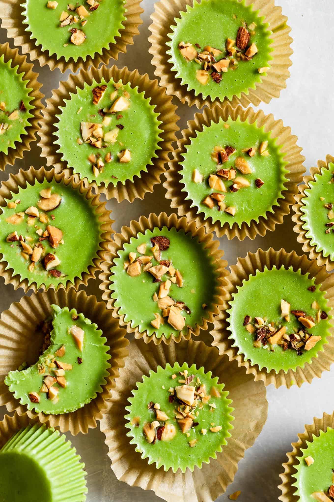 Green Almond Butter Cups