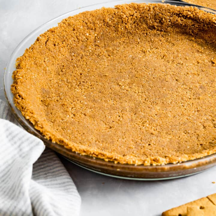 Gluten-Free Graham Cracker Crust in Pie Dish