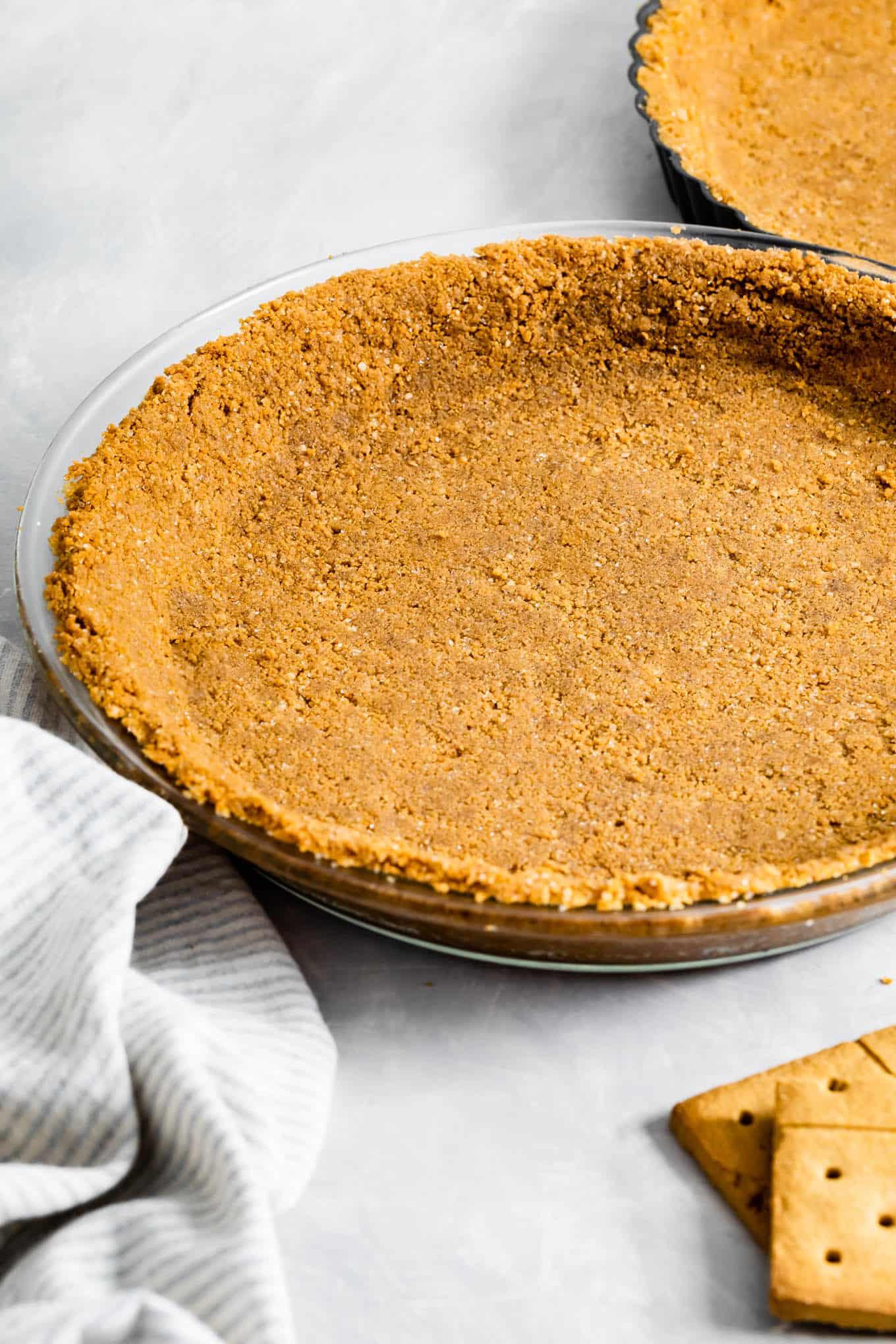 Gluten-Free Graham Cracker Crust in Pie Dish