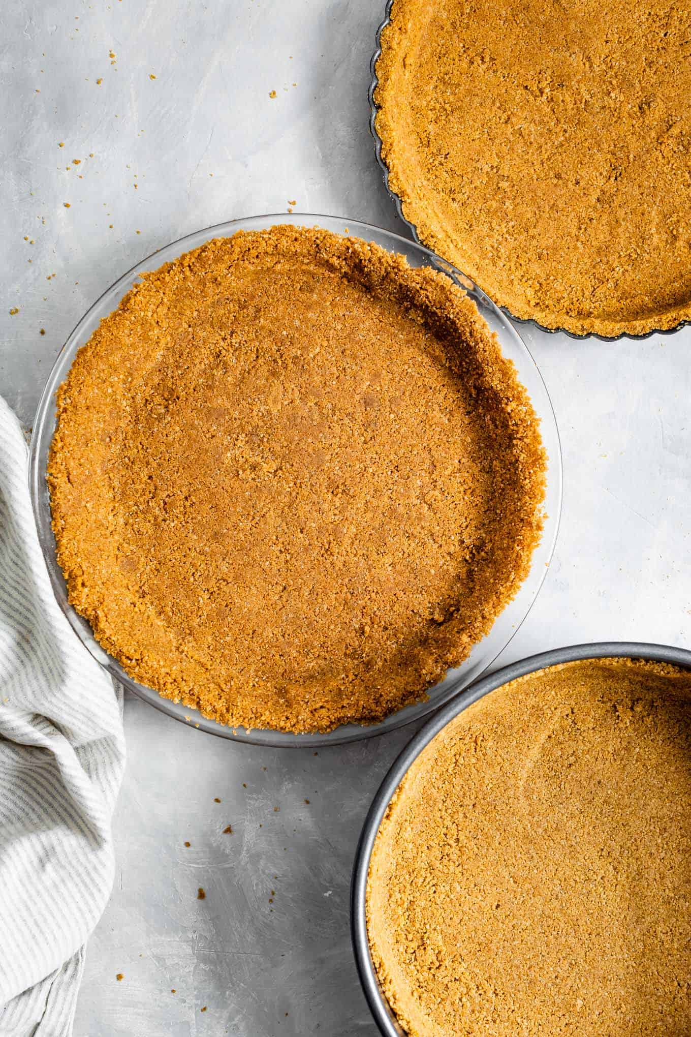 Gluten-Free Graham Cracker Crust, three ways