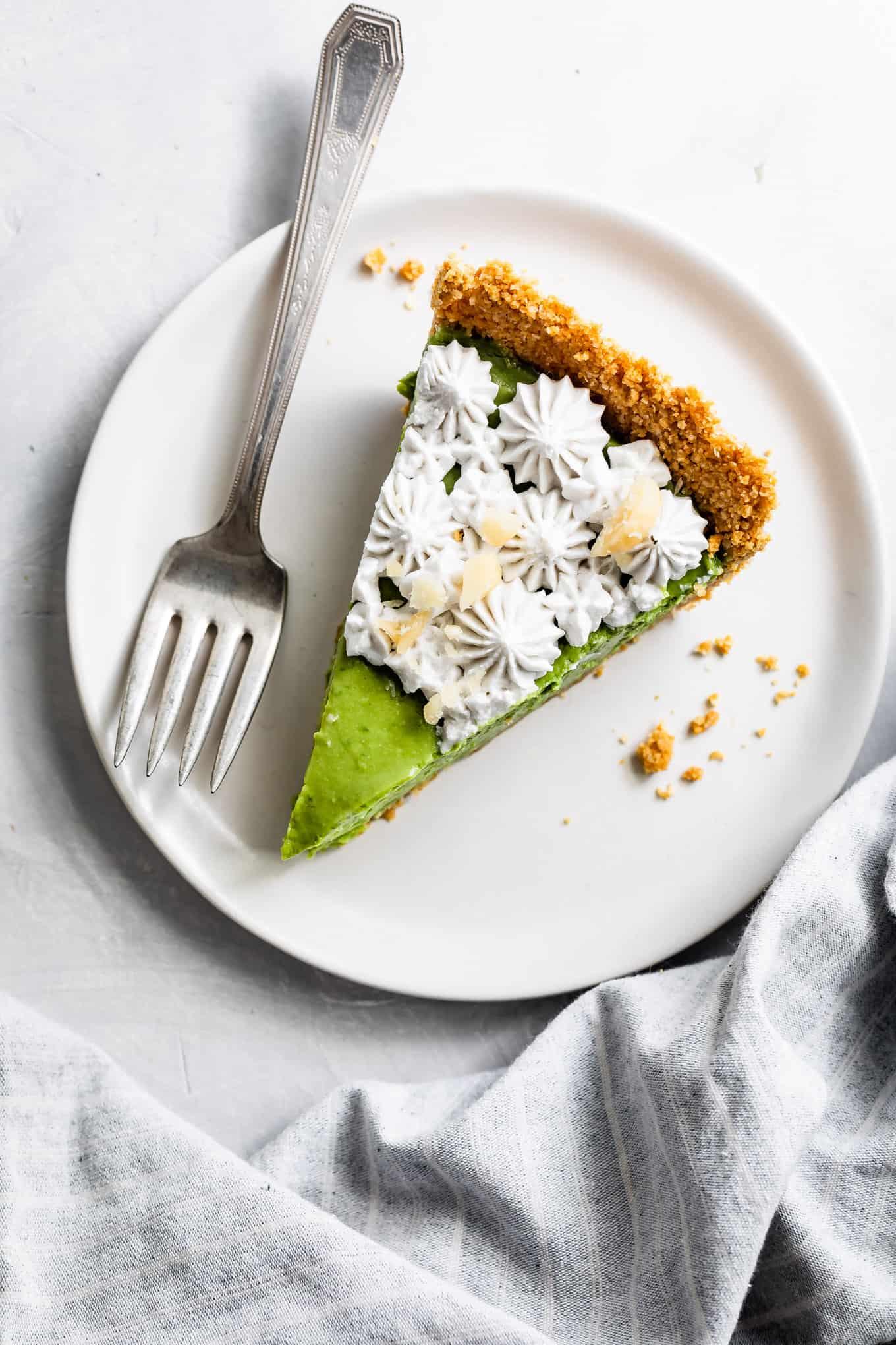 Slice of Avocado Key Lime Pie