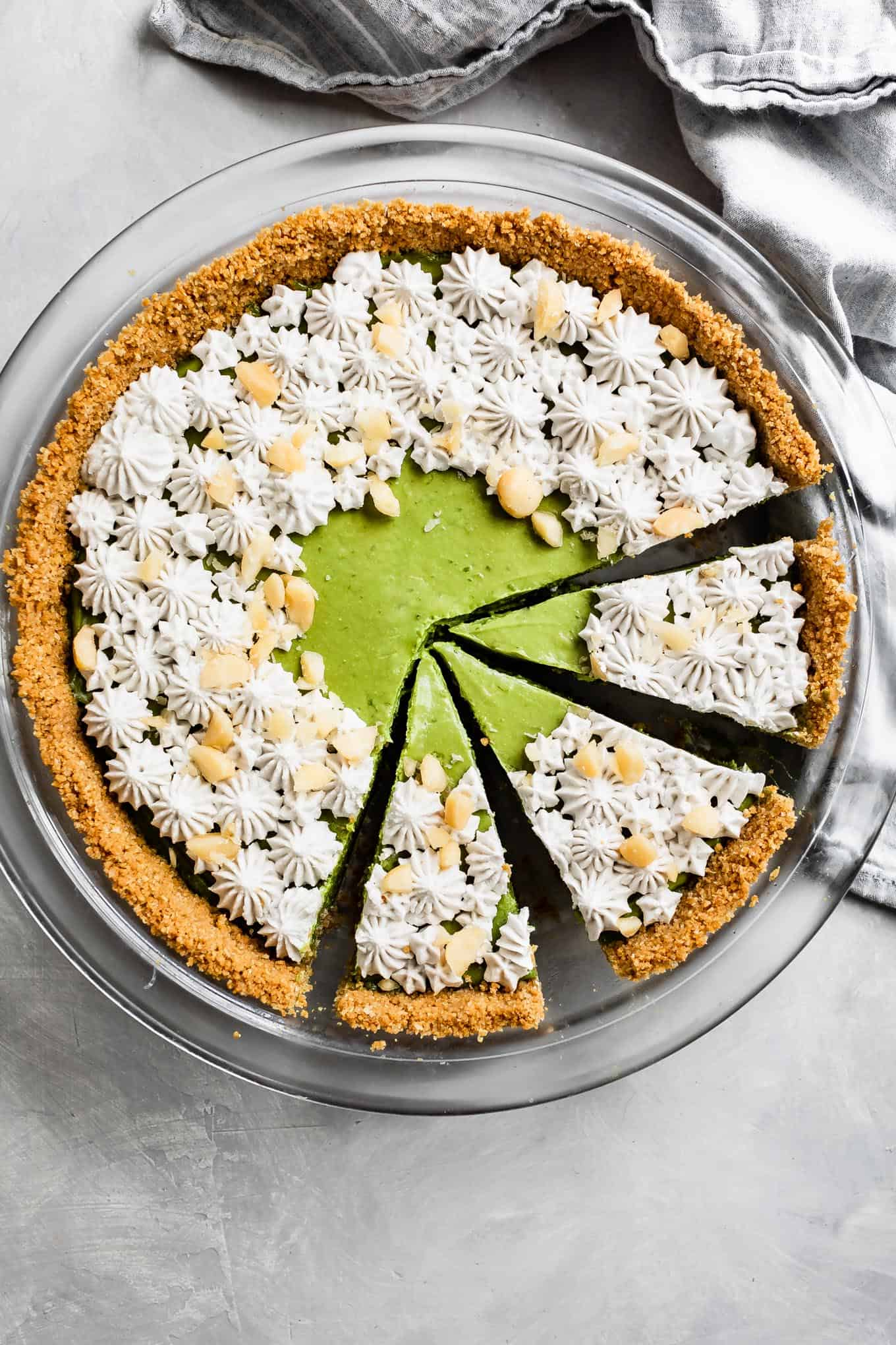 Gluten-Free Key Lime Pie with Matcha
