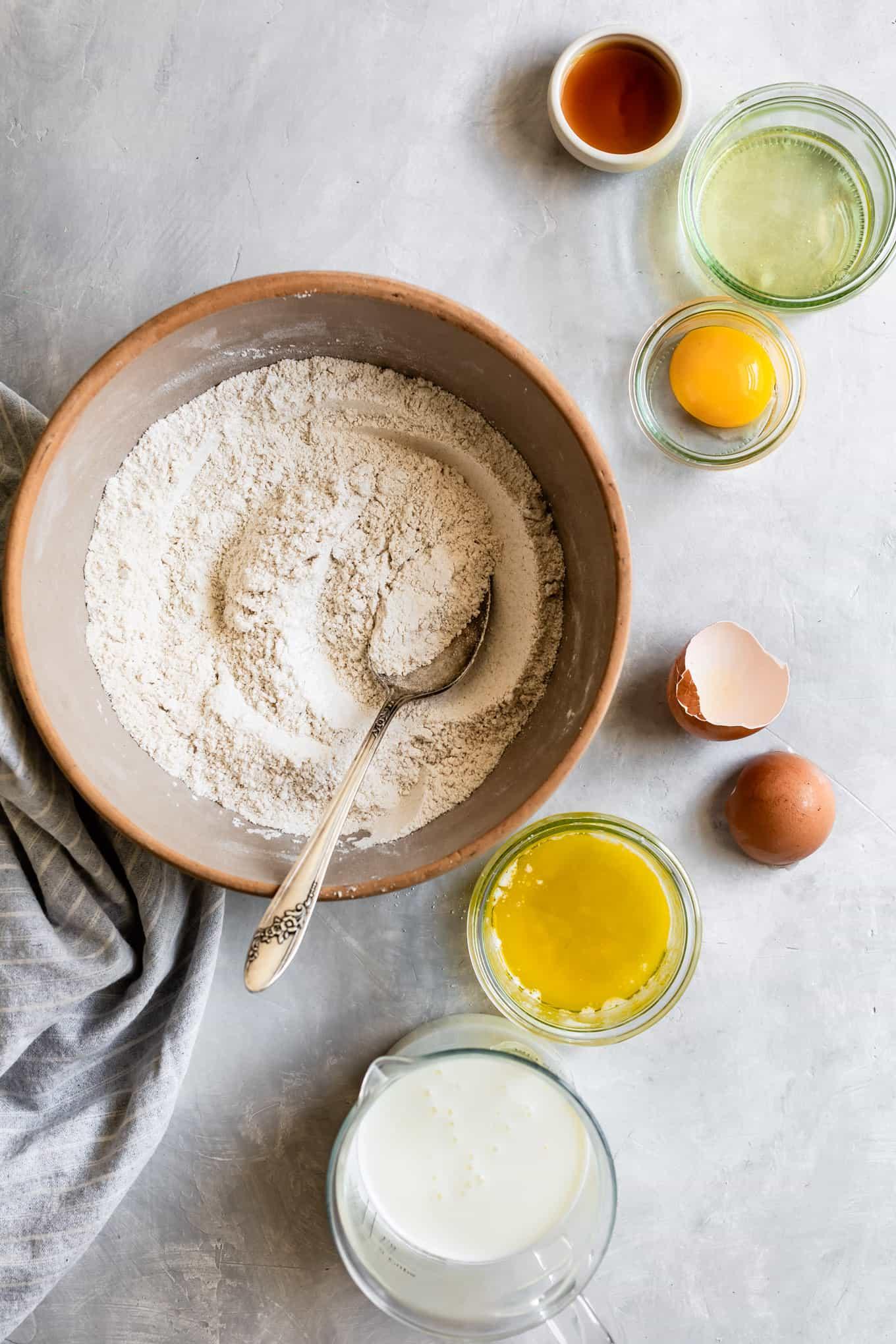 Make-ahead gluten-free pancake mix ingredients