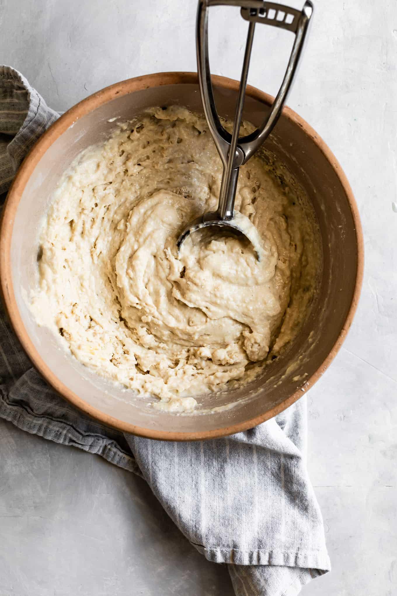 Lumpy gluten-free pancake batter
