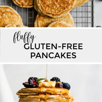Fluffy gluten-free pancakes with syrup