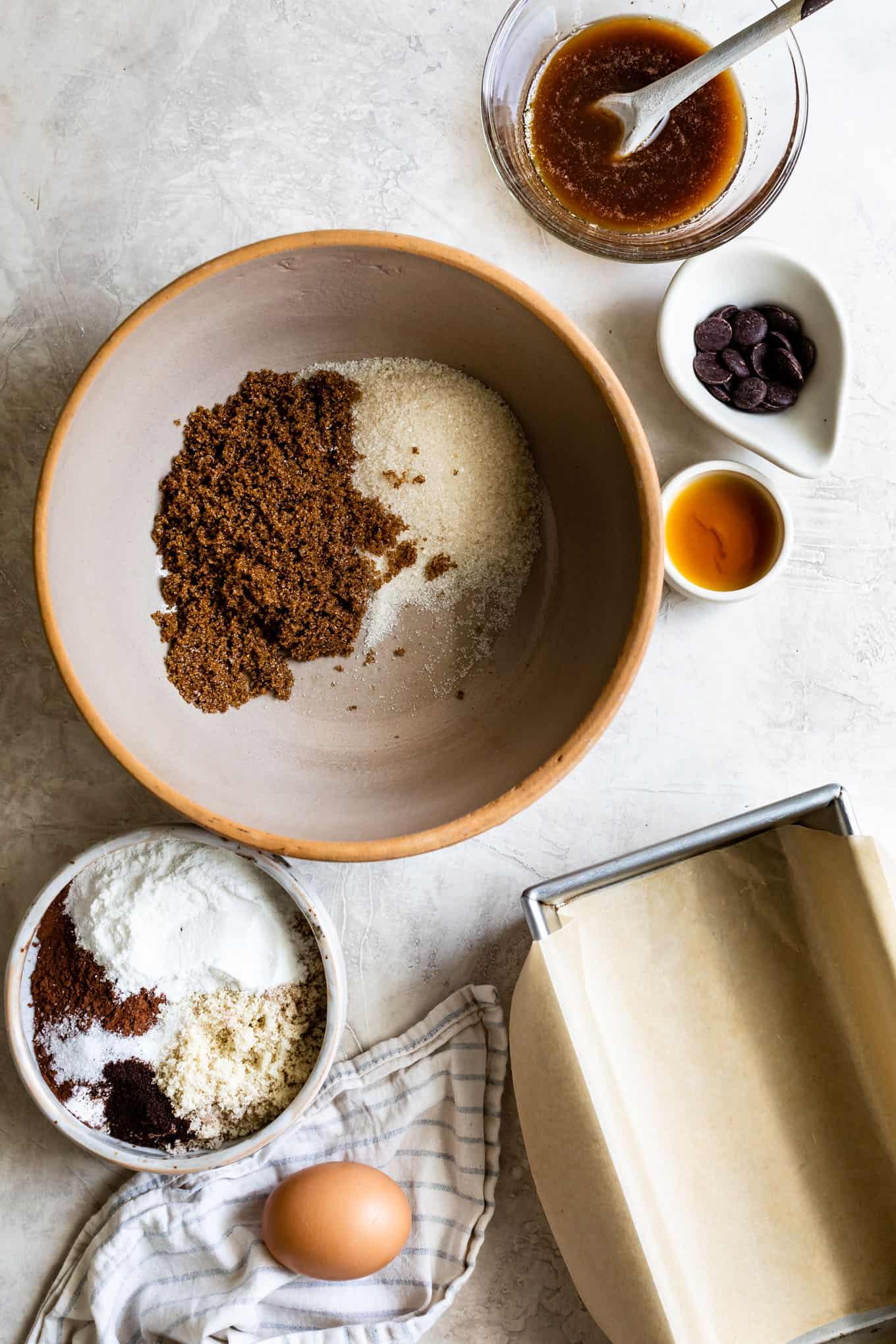 Ingredients for Gluten-Free Brownies